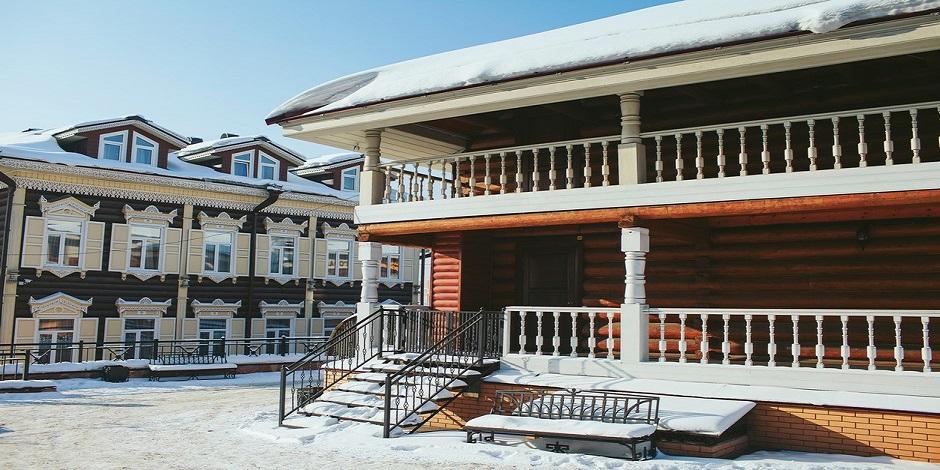 Maisons de bois Sibérie