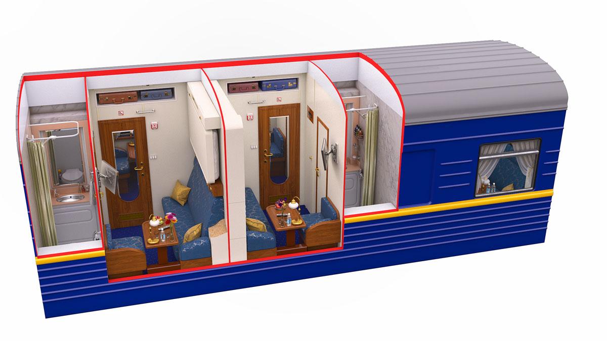 Cabine Luxe Transsibérien Silver Class Train Golden Eagle